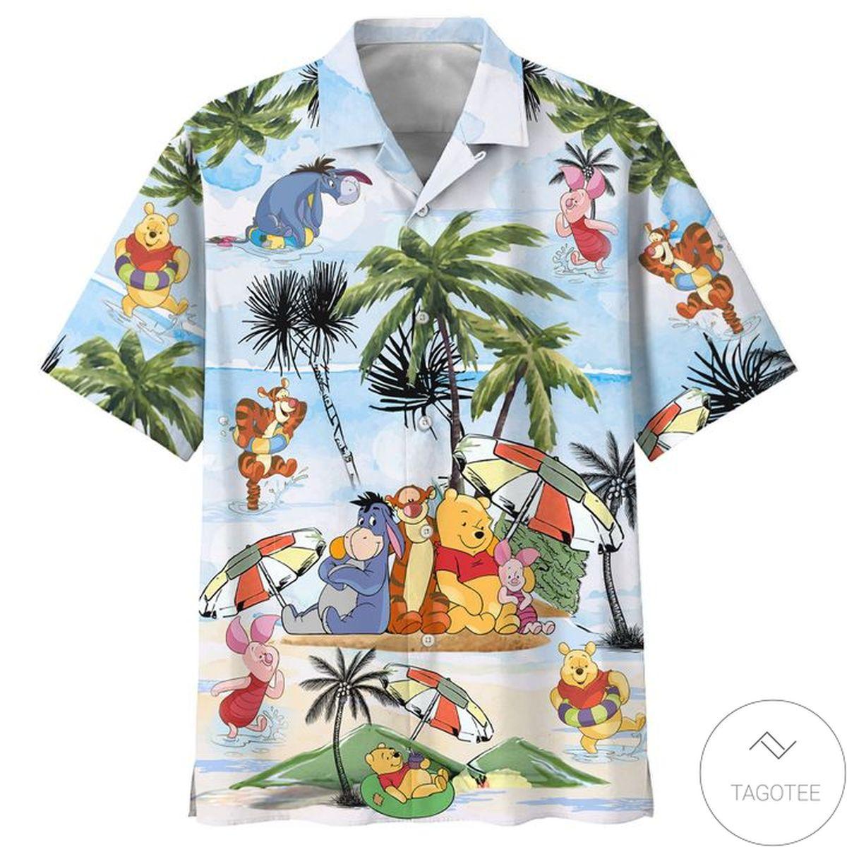 Best Gift Winnie The Pooh Summer Time Hawaiian Shirt