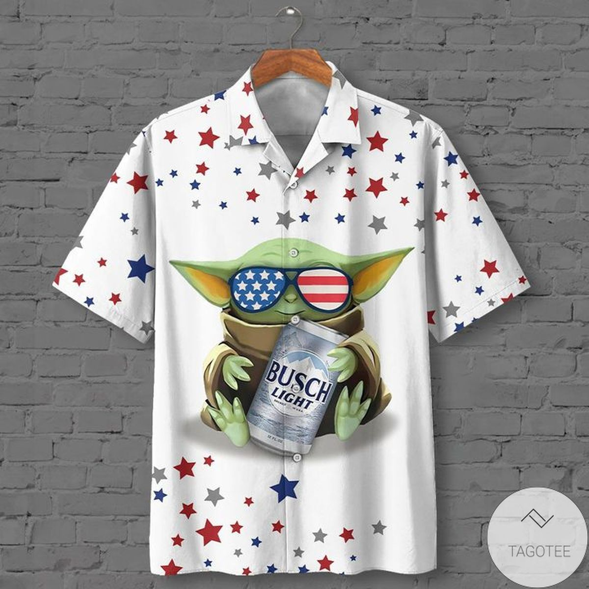 Mother's Day Gift Yoda With Beer Busch Light Hawaiian Shirt