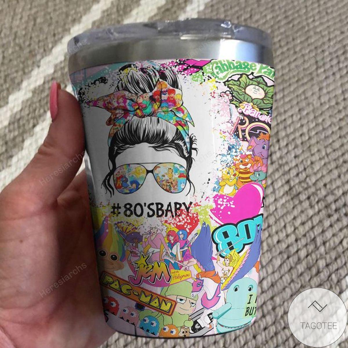 Drop Shipping 80s Baby Cartoons Tumbler