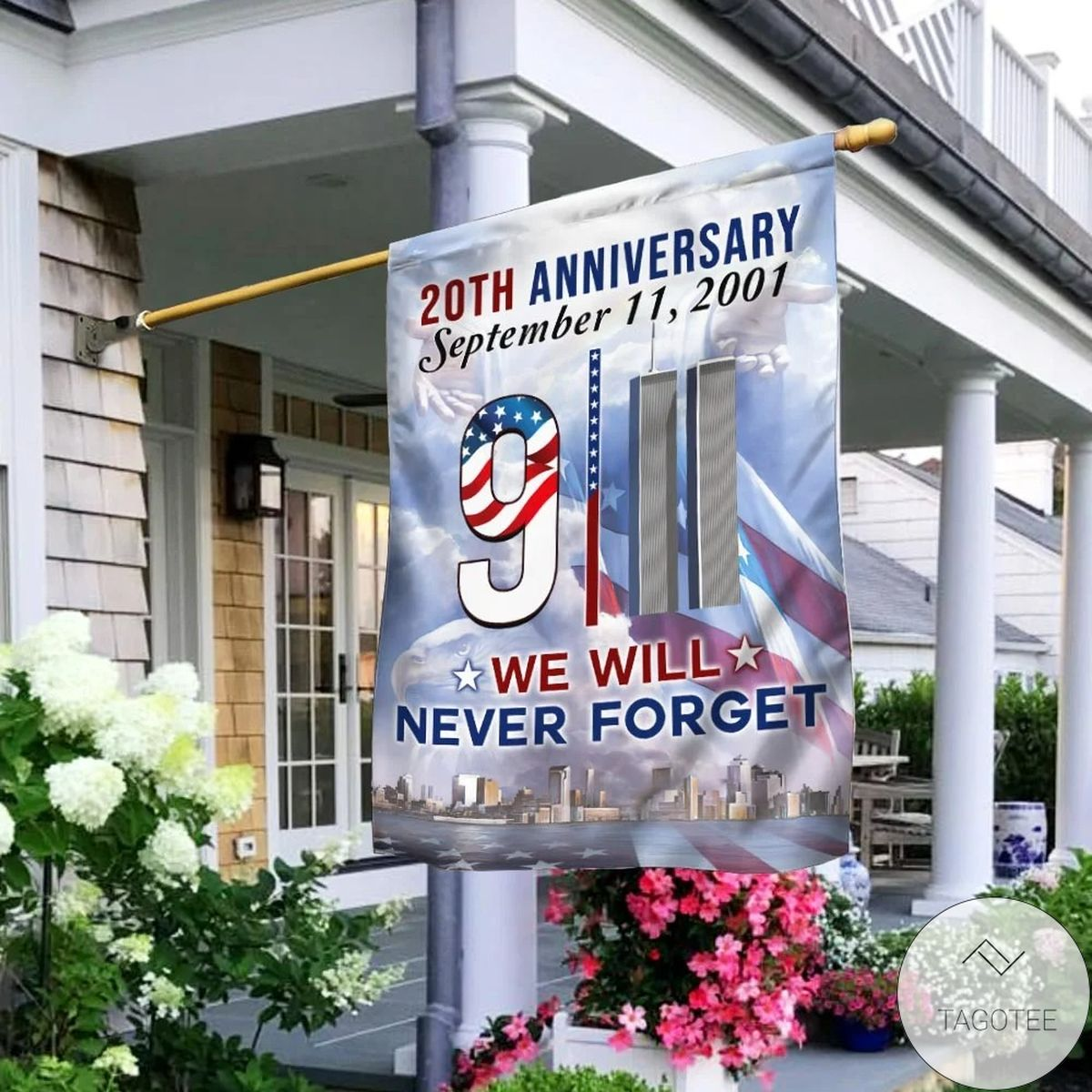 911 We Will Never Forget 20th Anniversary Flag