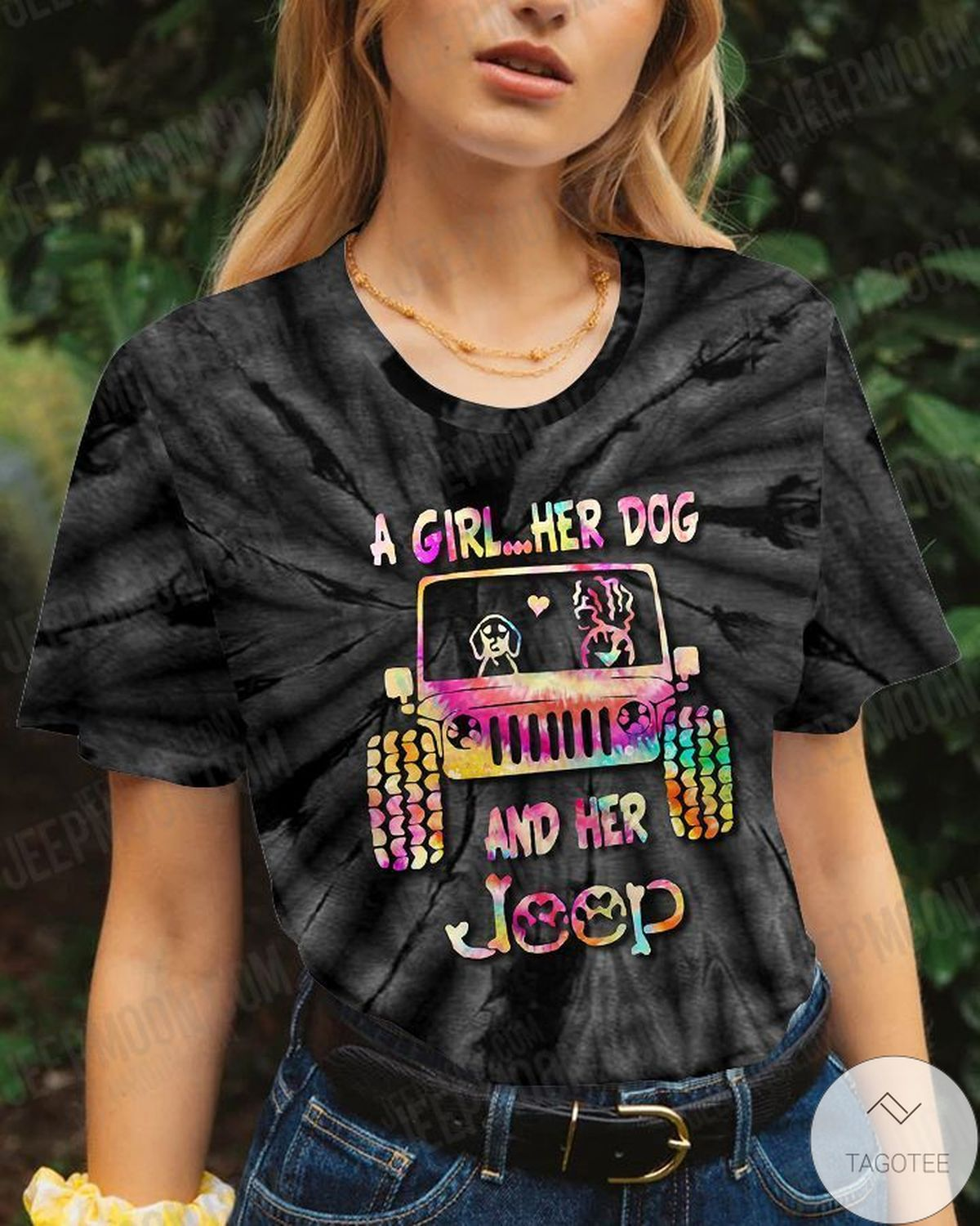 Perfect A Girl Her Dog And Her Jeep T-Shirt