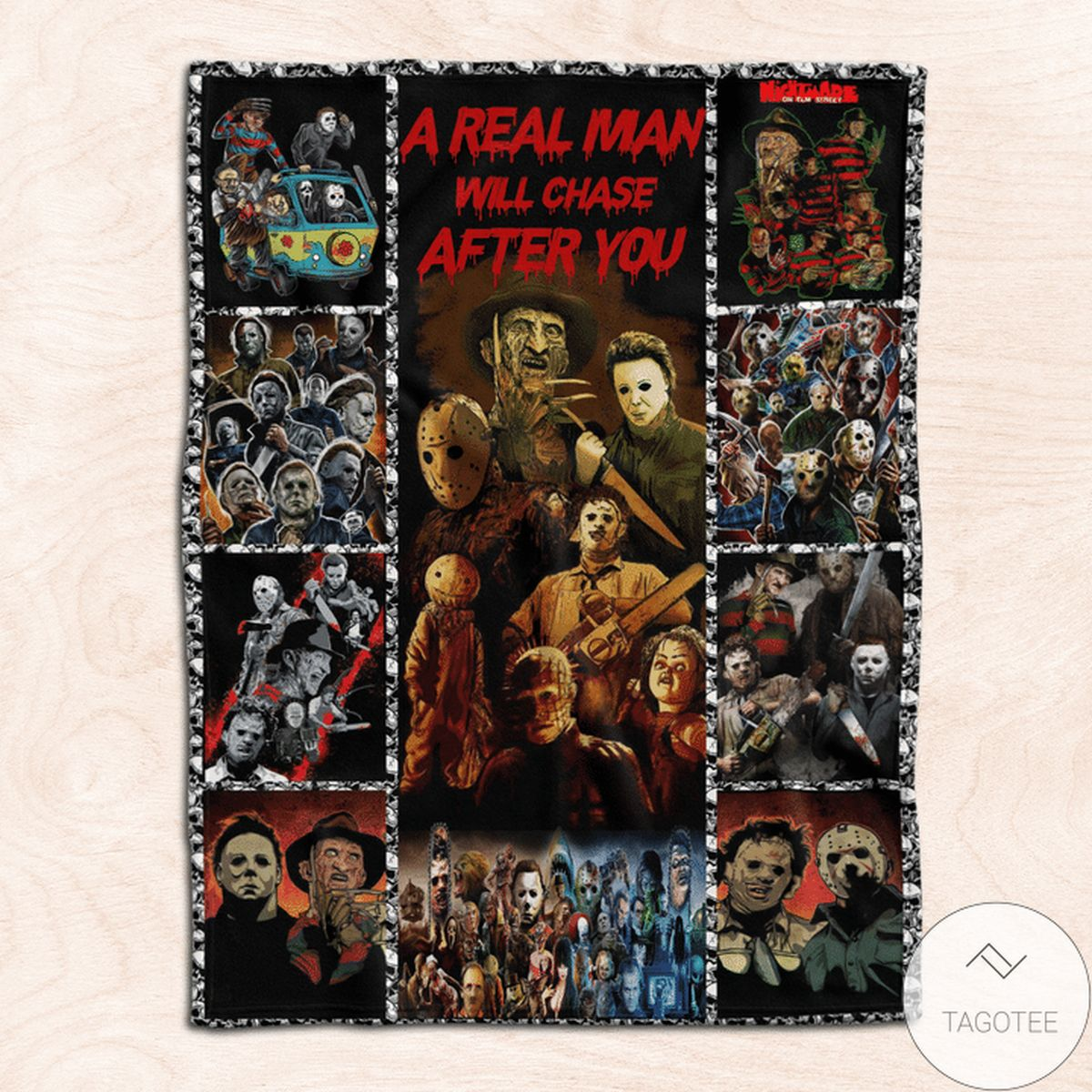 US Shop A Real Men Will Chase After You Funny Blanket
