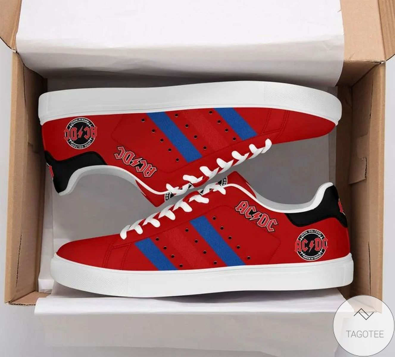 Very Good Quality Ac Dc Red Stan Smith Shoes