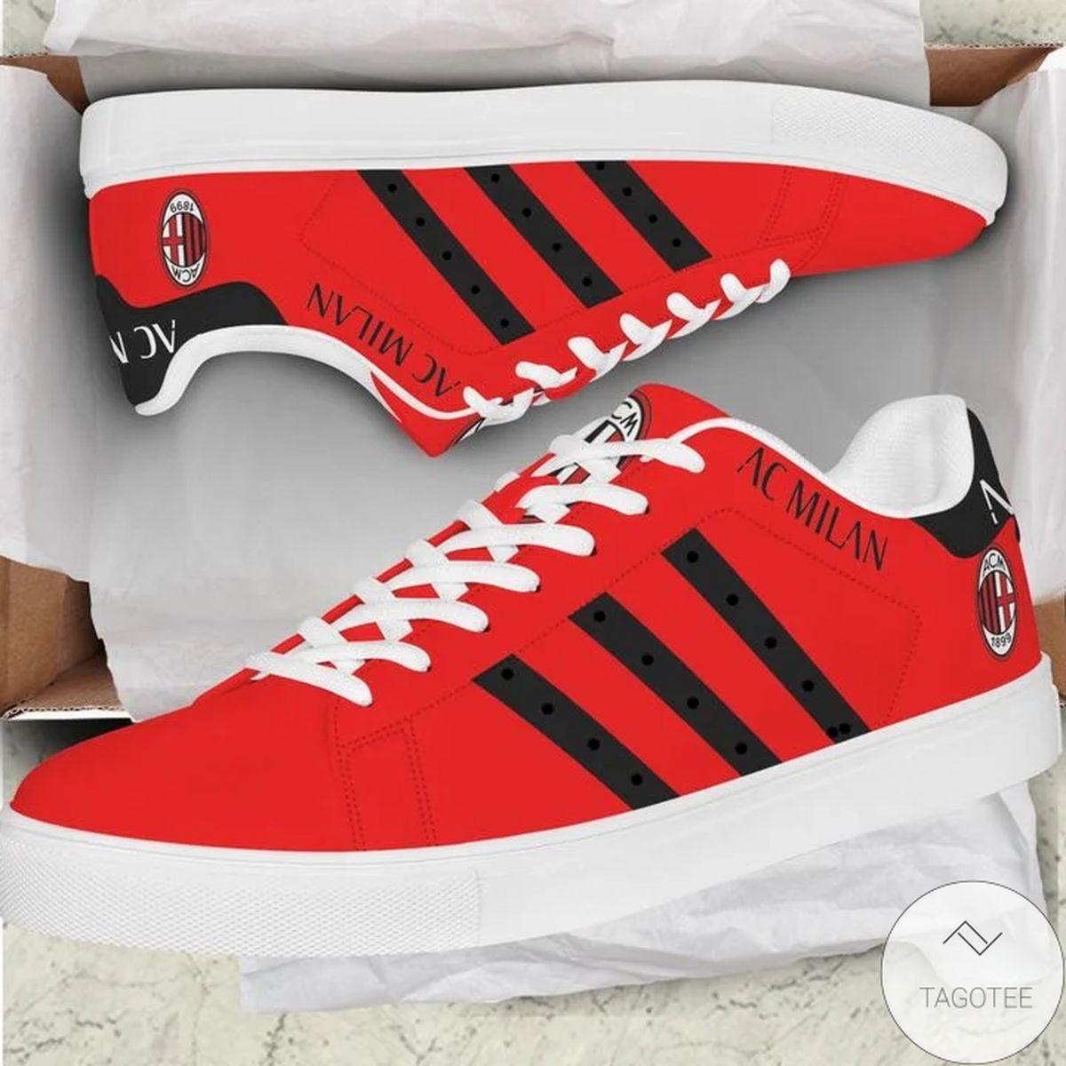 POD Ac Milan Red Version Stan Smith Shoes