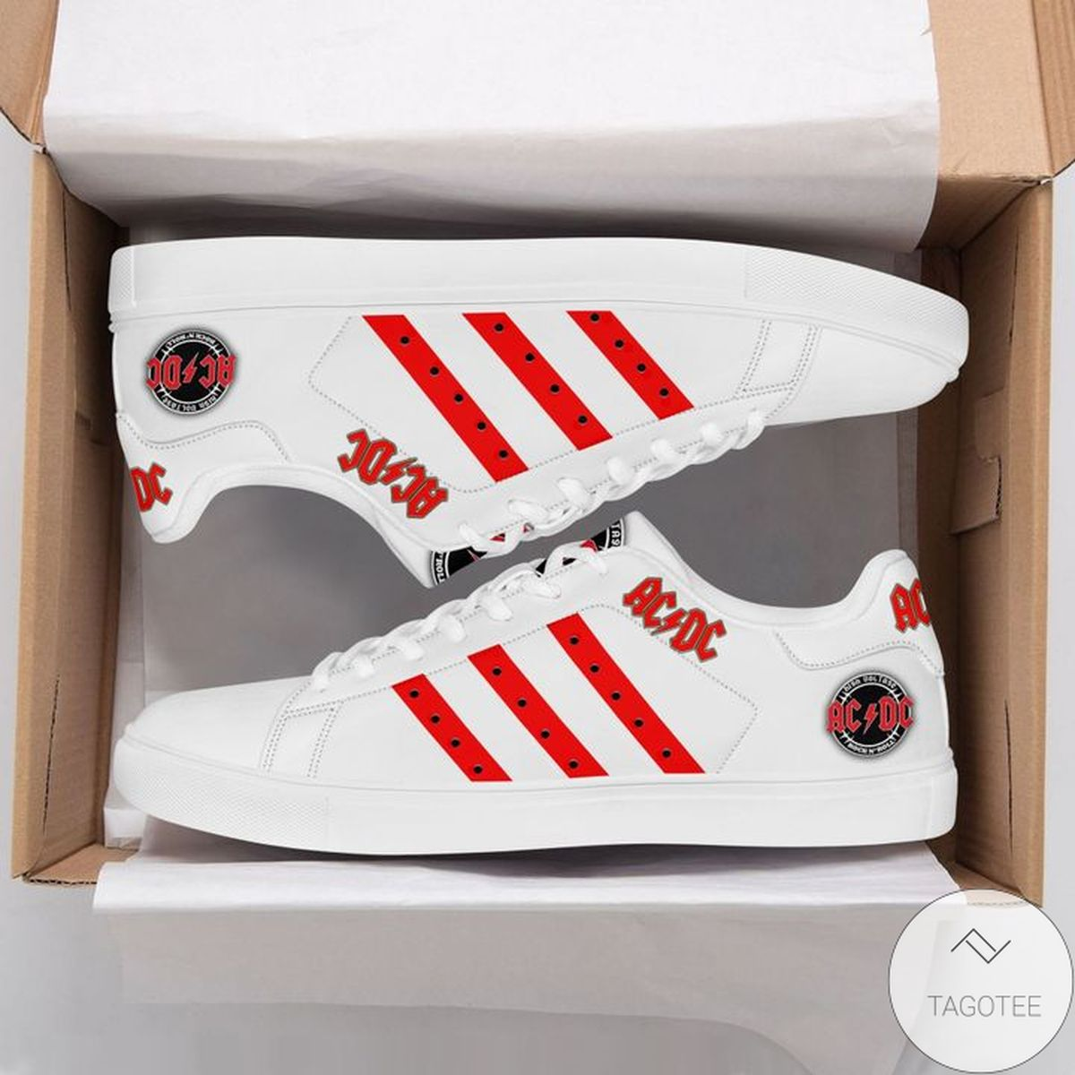 Top Selling Acdc Red White Stan Smith Shoes