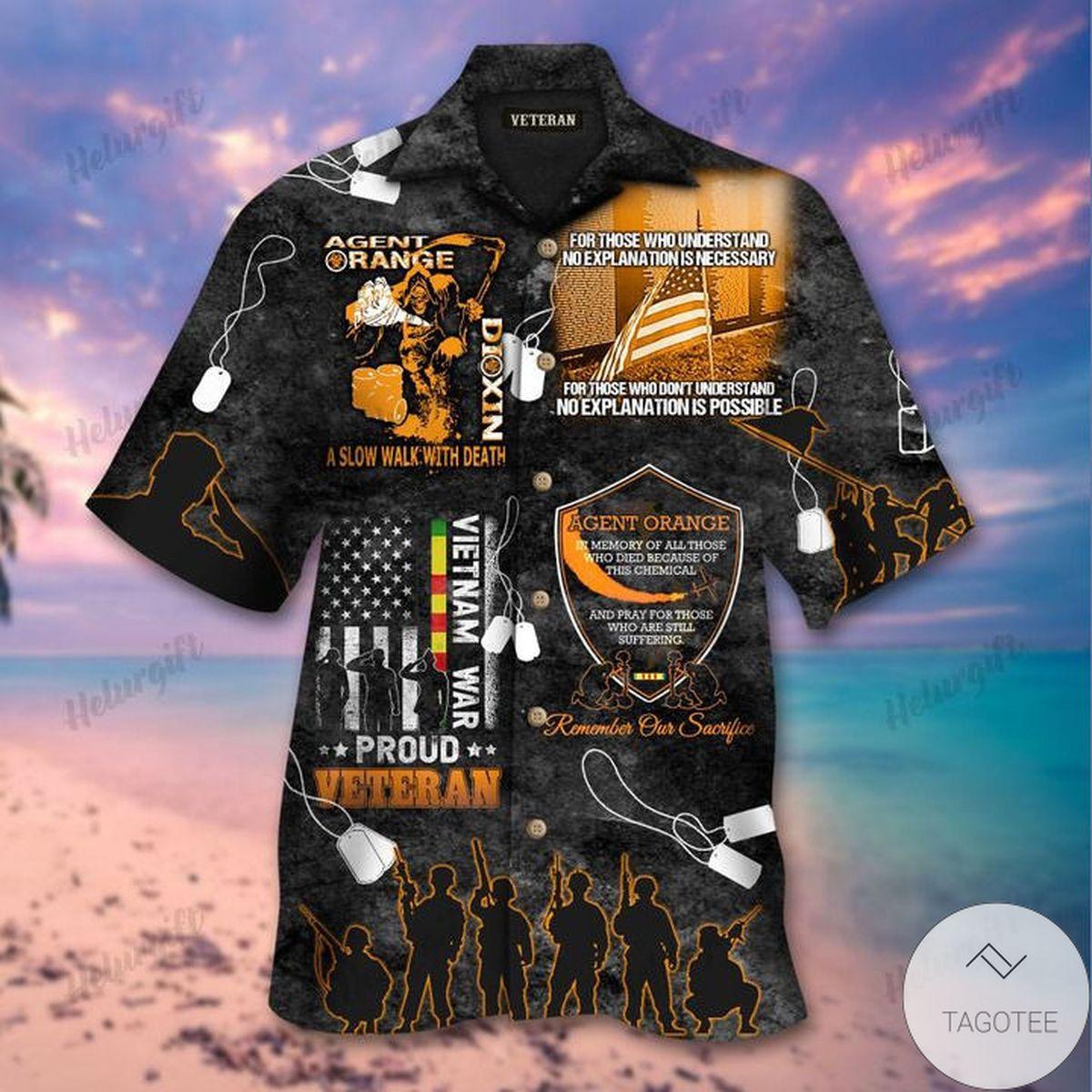Agent Orange Proud Veteran Hawaiian Shirt