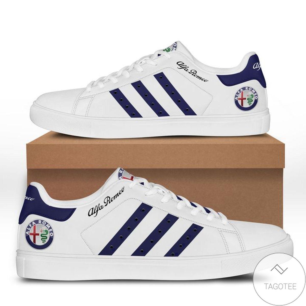 Discount Alfa Romeo Blue White Stan Smith Shoes