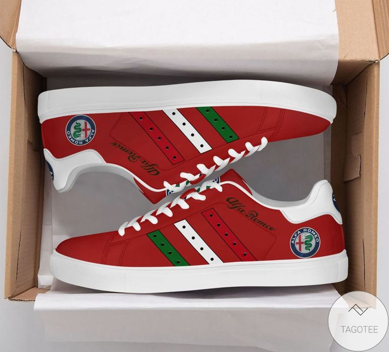Mother's Day Gift Alfa Romeo Red Stan Smith Shoes