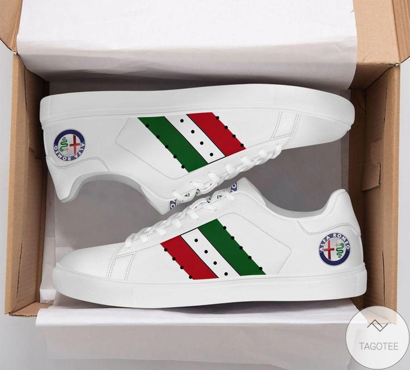 POD Alfa Romeo White Stan Smith Shoes