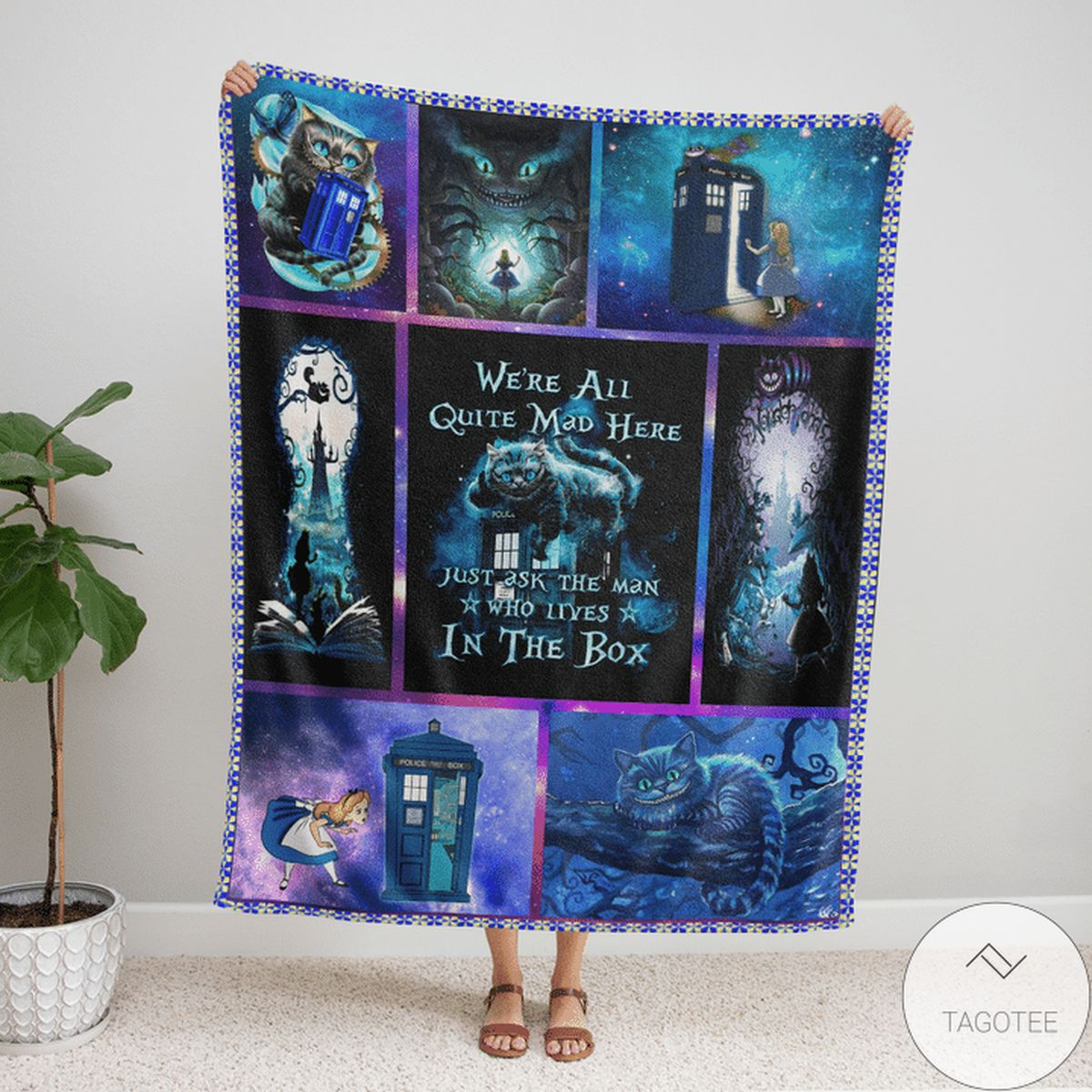 Alice In Wonderland We're All Mad Here Blanket