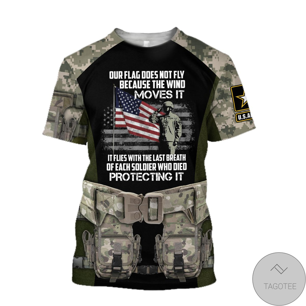 Army Veteran Our Flag Does Not Fly Because The Wind Move It 3D All Over Print Hoodie c