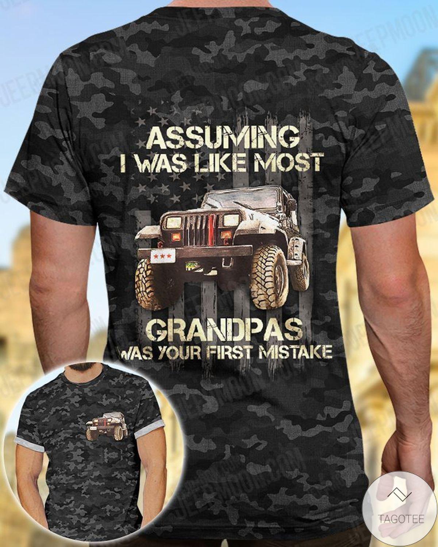 Free Ship Assuming I Was Like Most Grandpas Jeep Shirt
