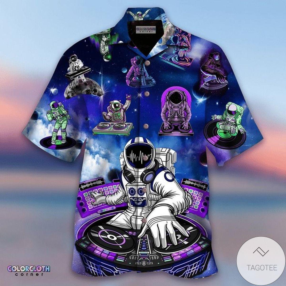 Astronaut Hawaiian Shirt