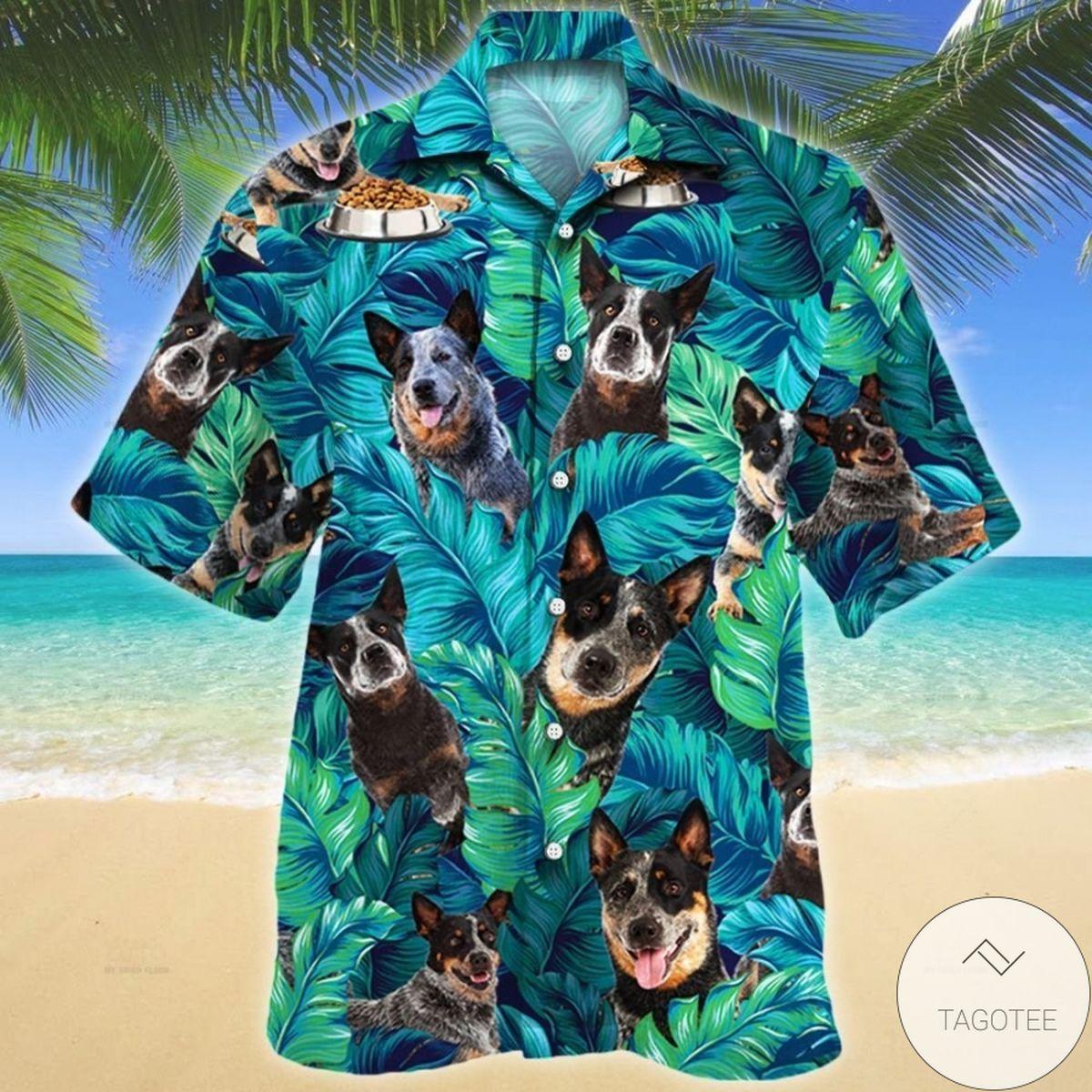 Top Rated Australian Cattle Dog Tropical Hawaiian Shirt