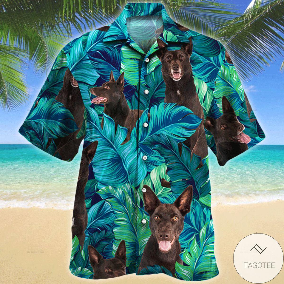Australian Kelpie Tropical Hawaiian Shirt