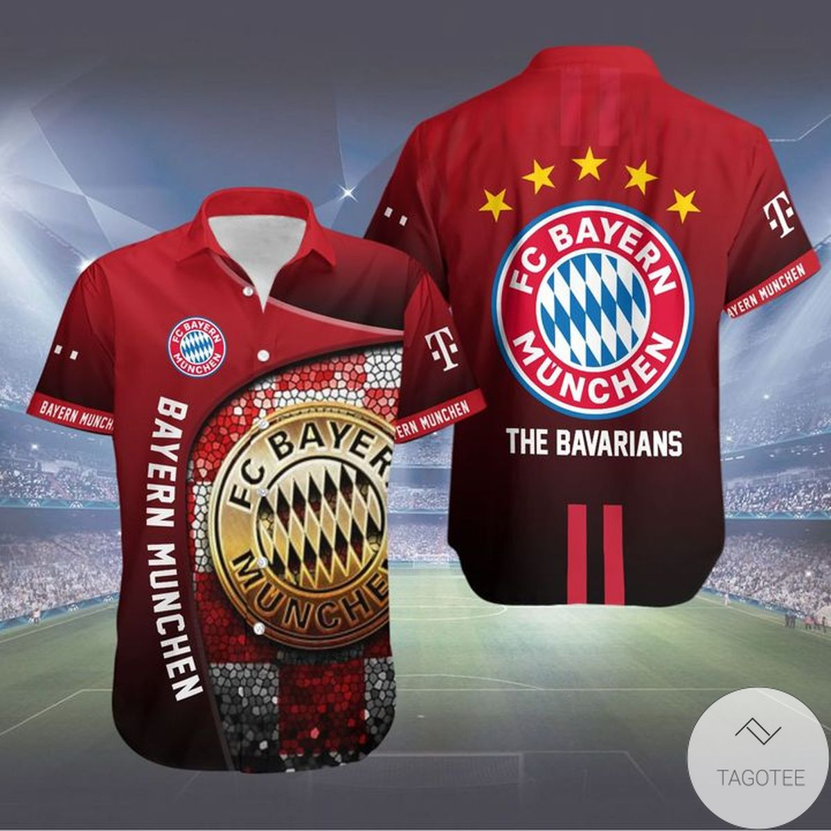 Where To Buy Bayern Muchen The Bavarians Hawaiian Shirt