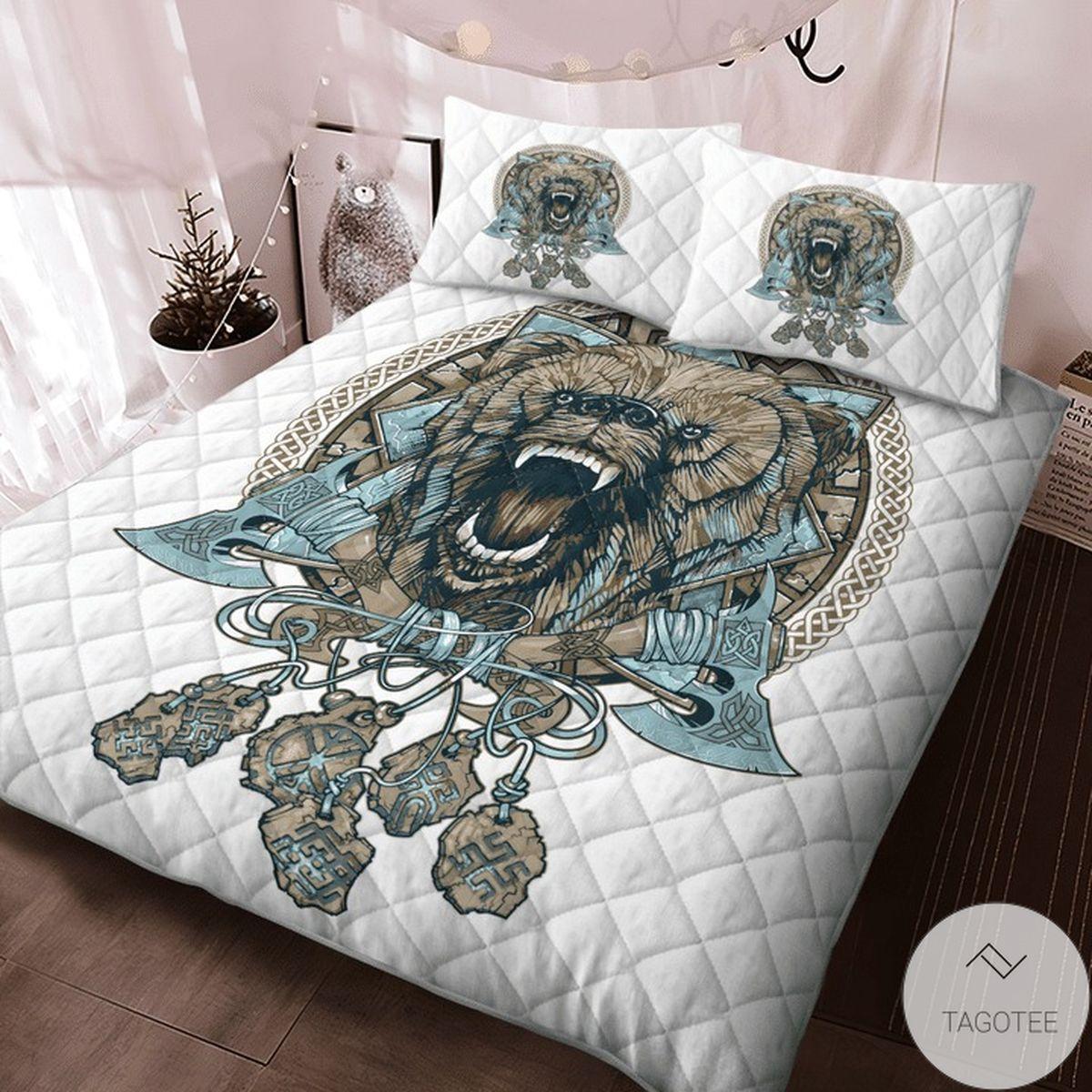 Best Gift Bear Viking Quilt Bedding Set