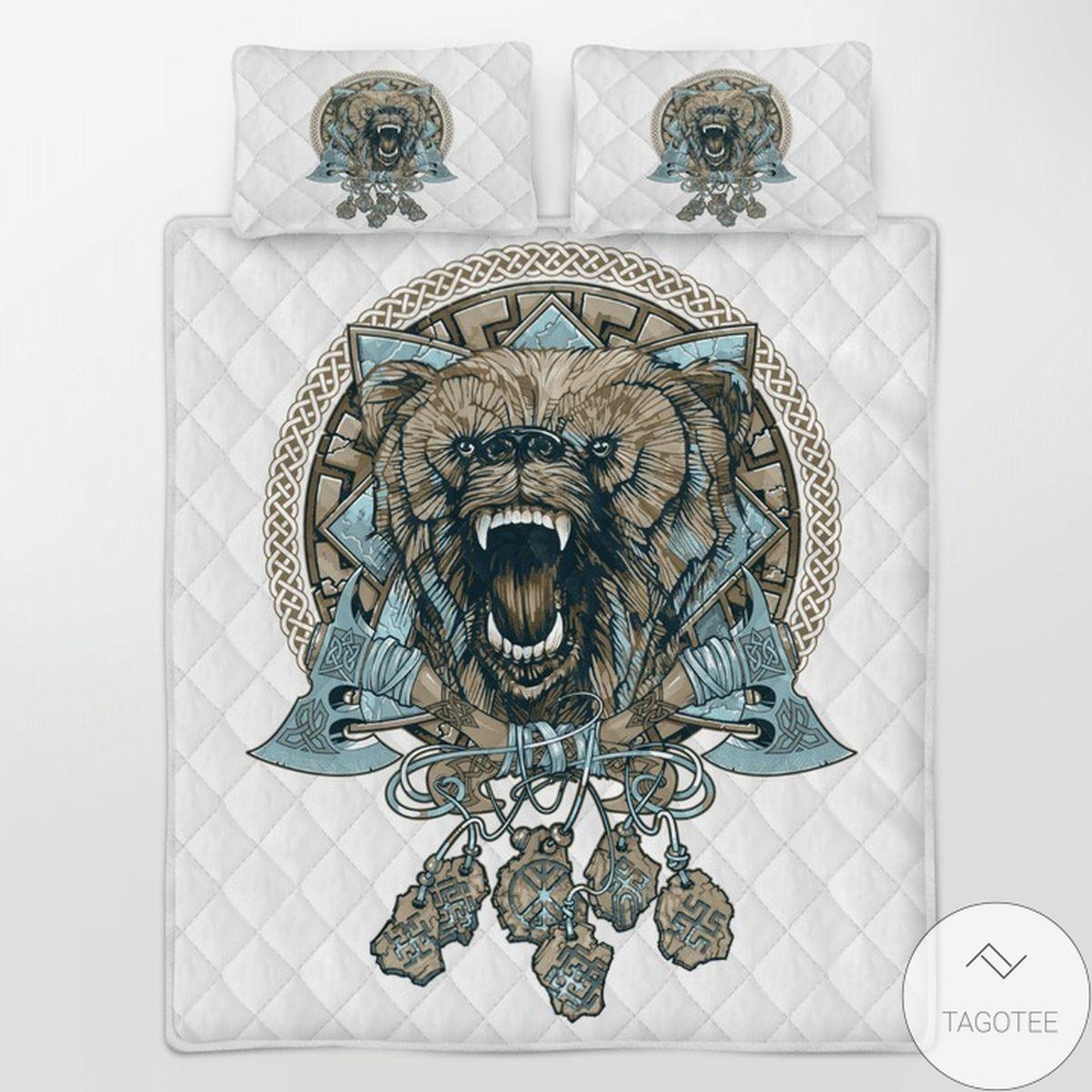Bear Viking Quilt Bedding Set