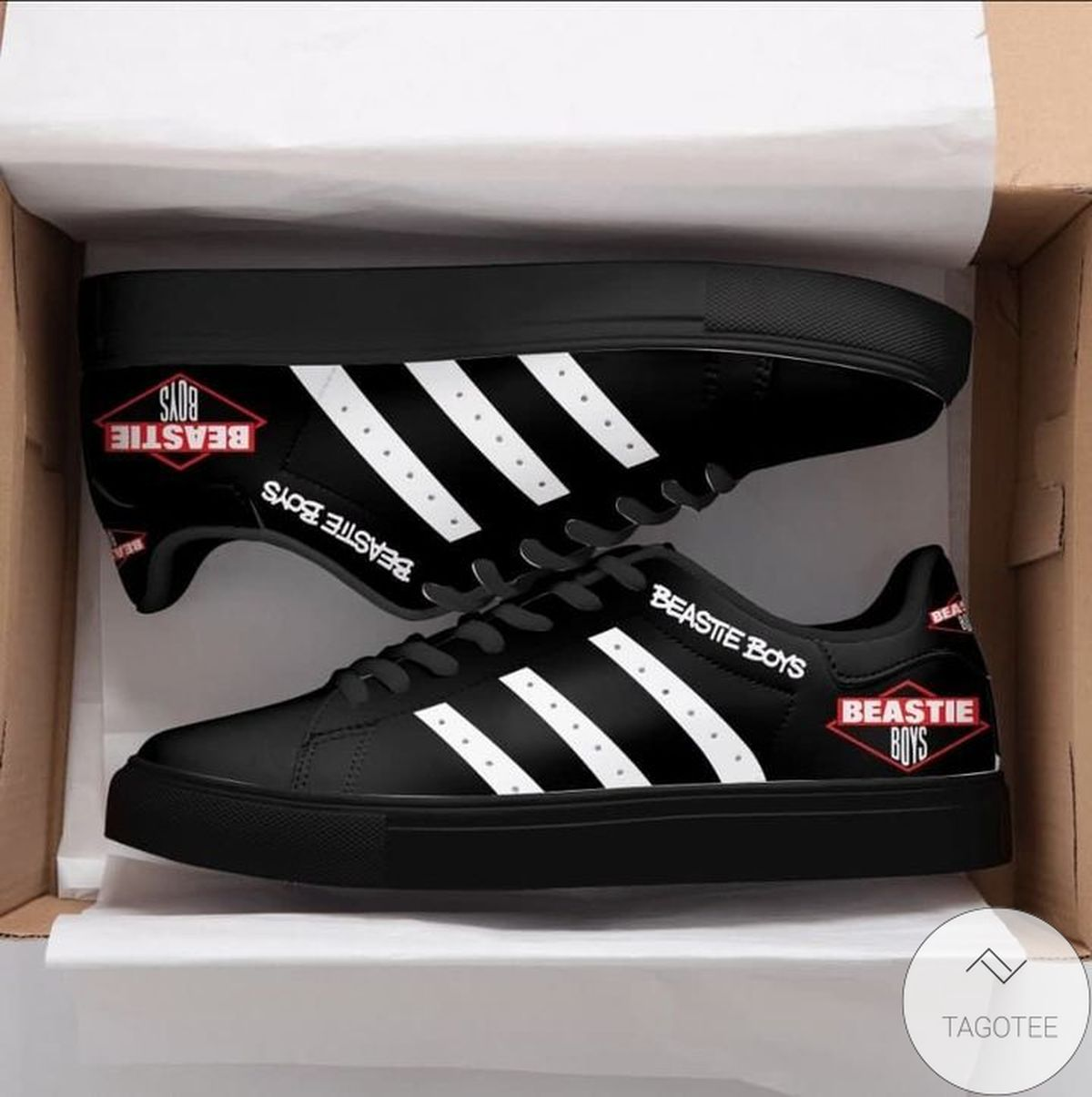 Father's Day Gift Beastie Boys Black Stan Smith Shoes