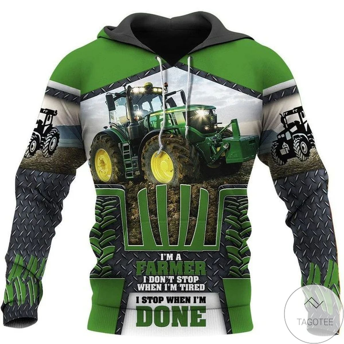 Beautiful Tractor I'm A Farmer I Don't Stop When I'm Tired 3d Hoodie