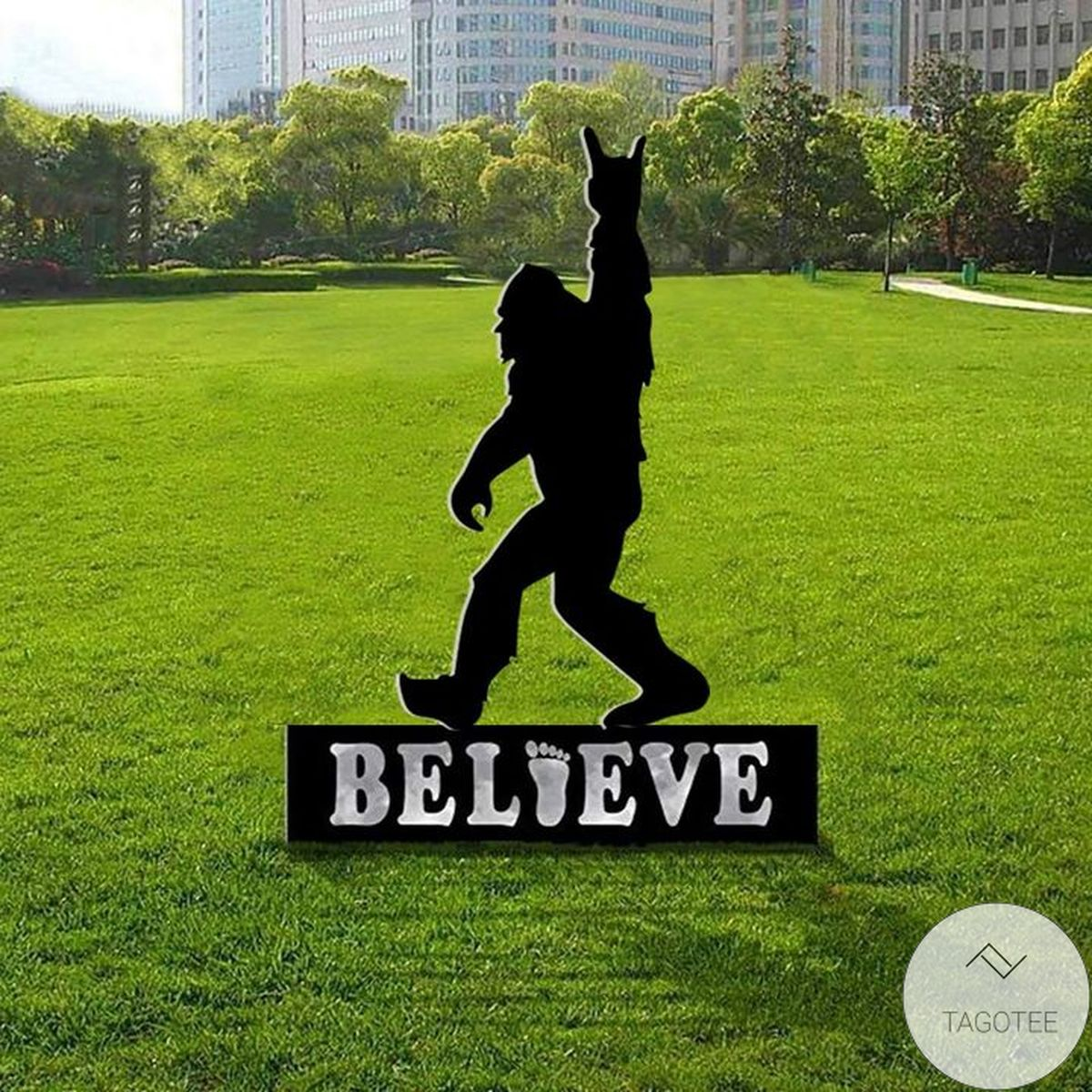Adorable Bigfoot Believer Sasquatch Sign Yard Sign