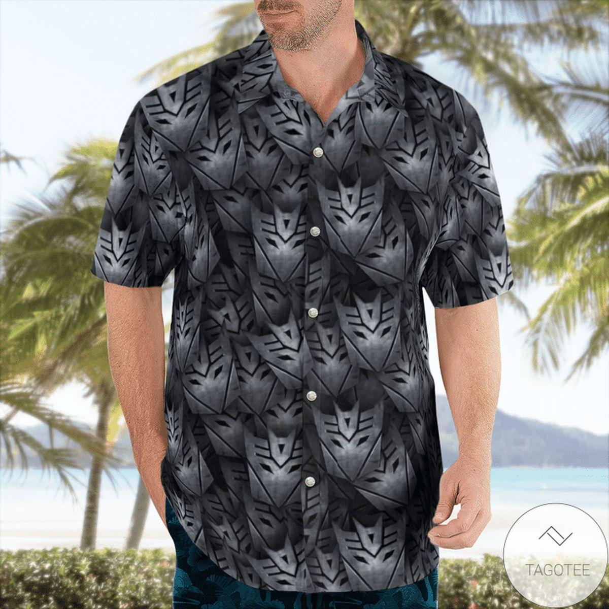 Drop Shipping Black Decepticon Transformer Hawaiian Shirt