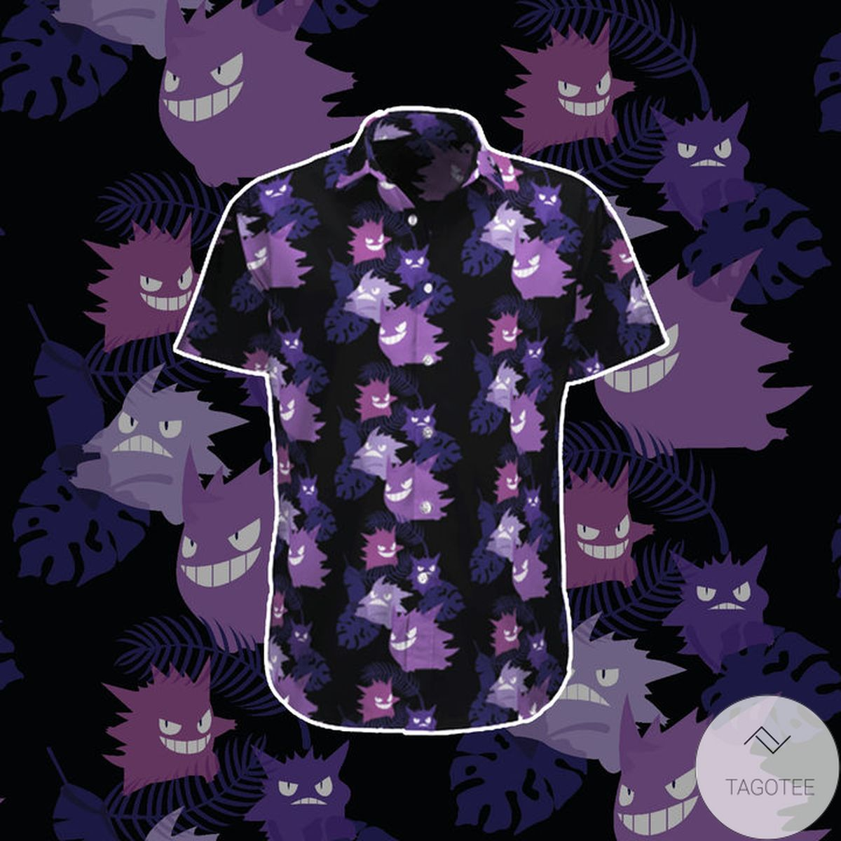 Hot Deal Black Gengar Hawaiian Shirt