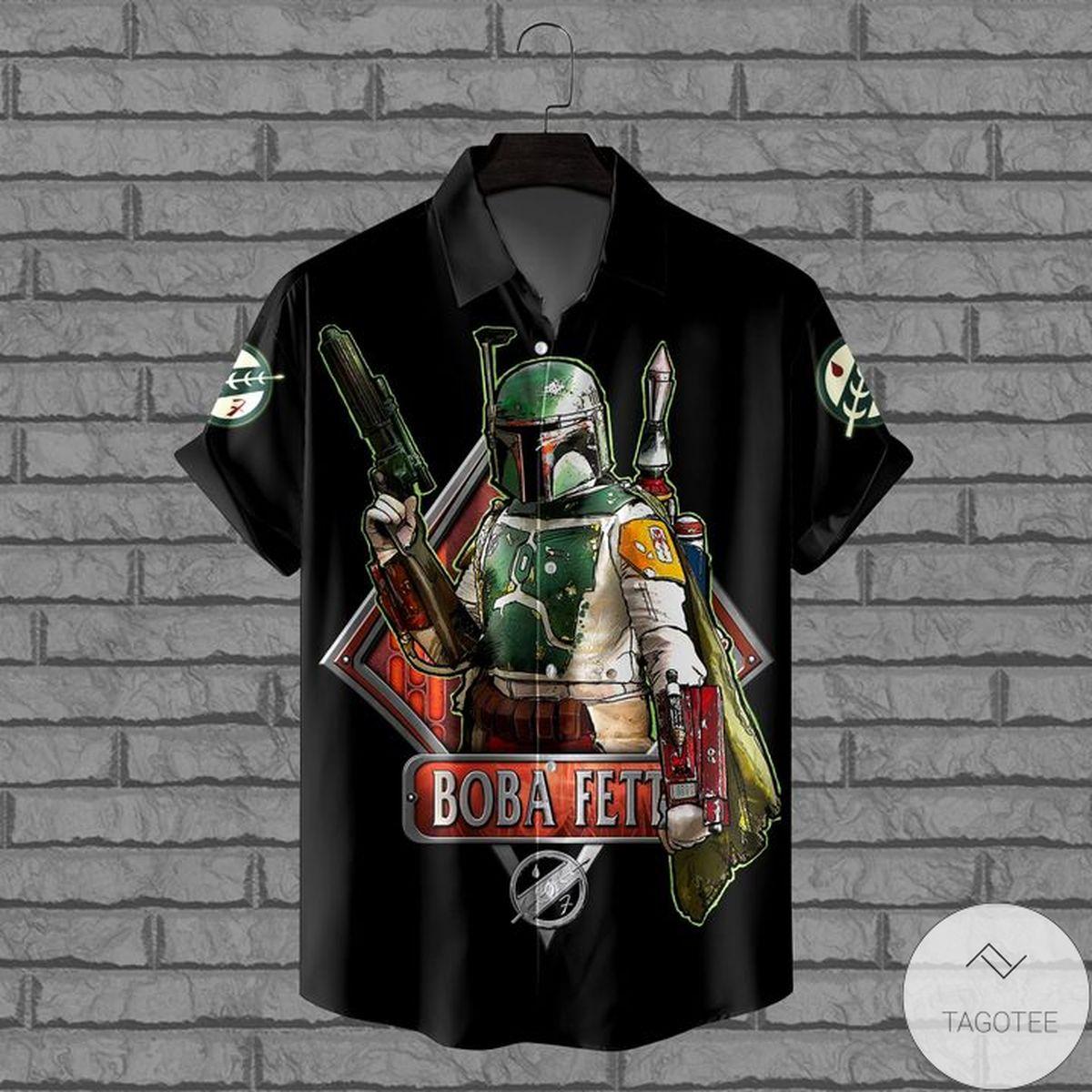 Top Selling Boba Fett Star Wars Black Hawaiian Shirt