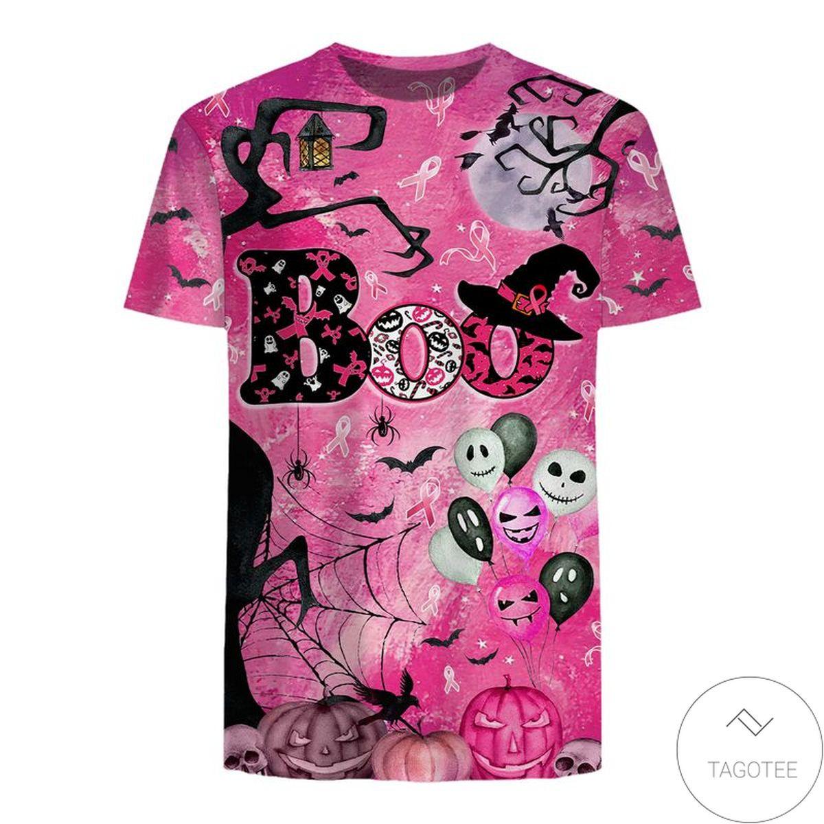 Perfect Boo Halloween Theme Pink 3D T-Shirt