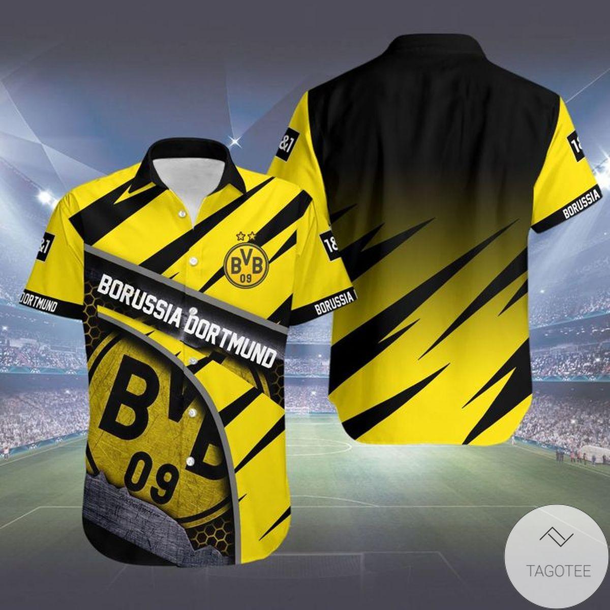 Great artwork! Borussia Dortmund Hawaiian Shirt