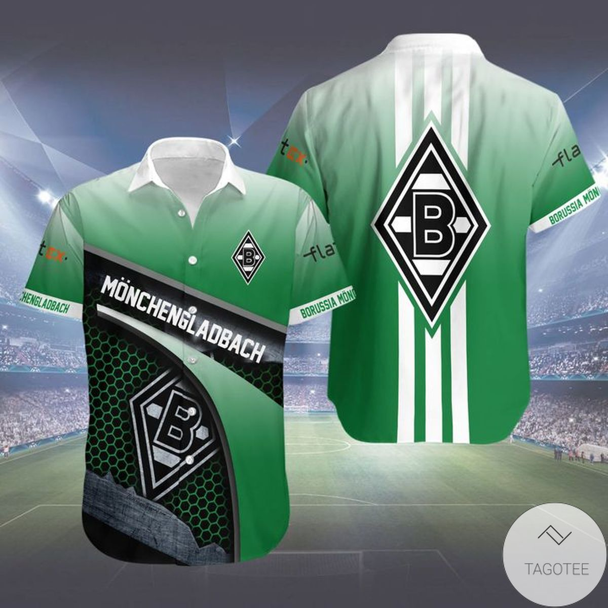Great artwork! Borussia Mönchengladbach Hawaiian Shirt