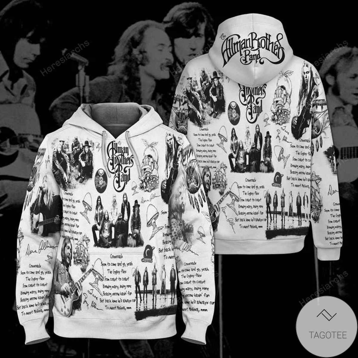 Brothers Band Black And White Hoodie