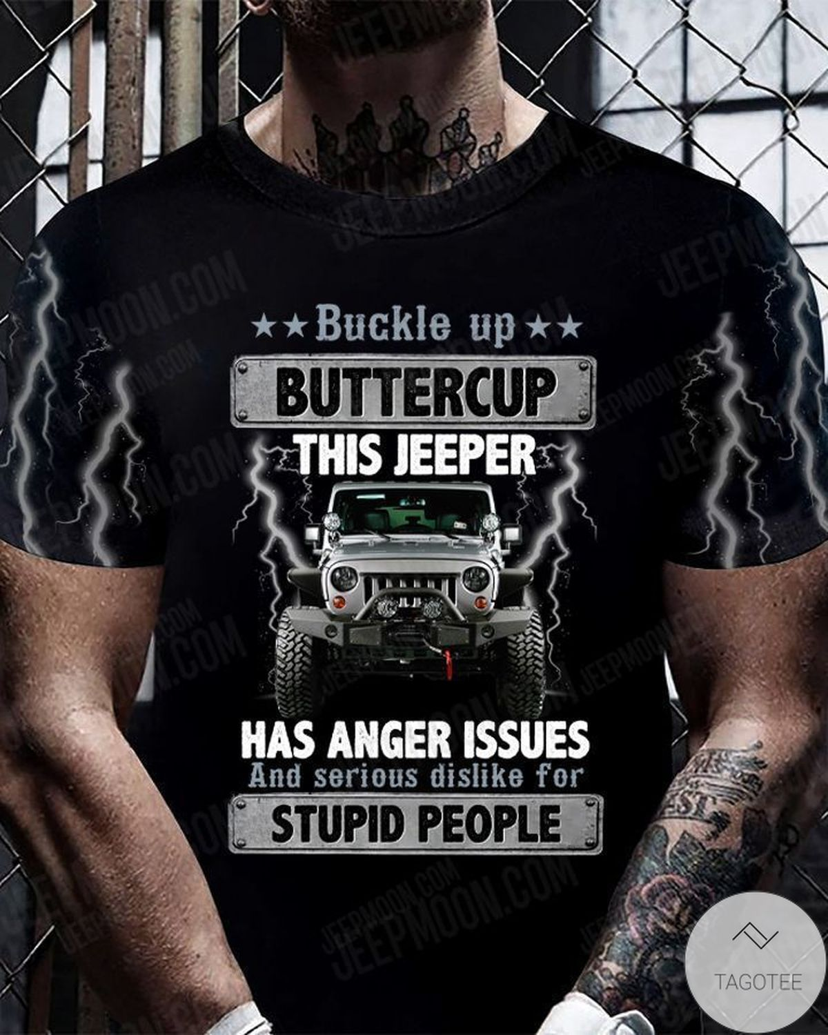 Funny Tee Buckle Up Buttercup This Jeeper Has Anger Issues T-Shirt