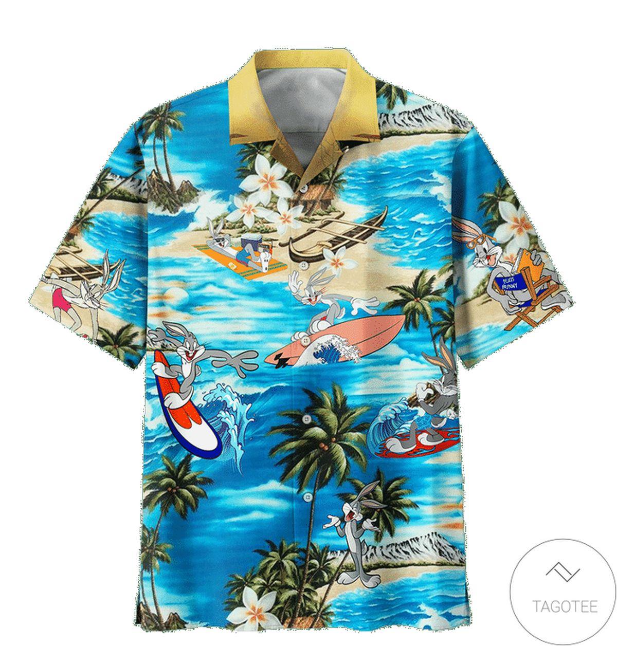 Esty Bugs Bunny Summer Vacation Hawaiian Shirt
