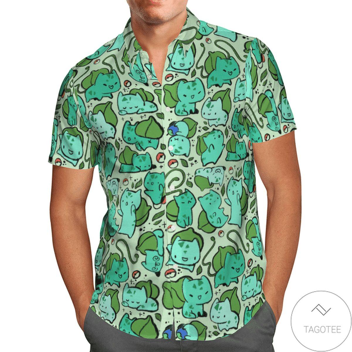 Rating Bulbasaur Pokemon Hawaiian Shirt
