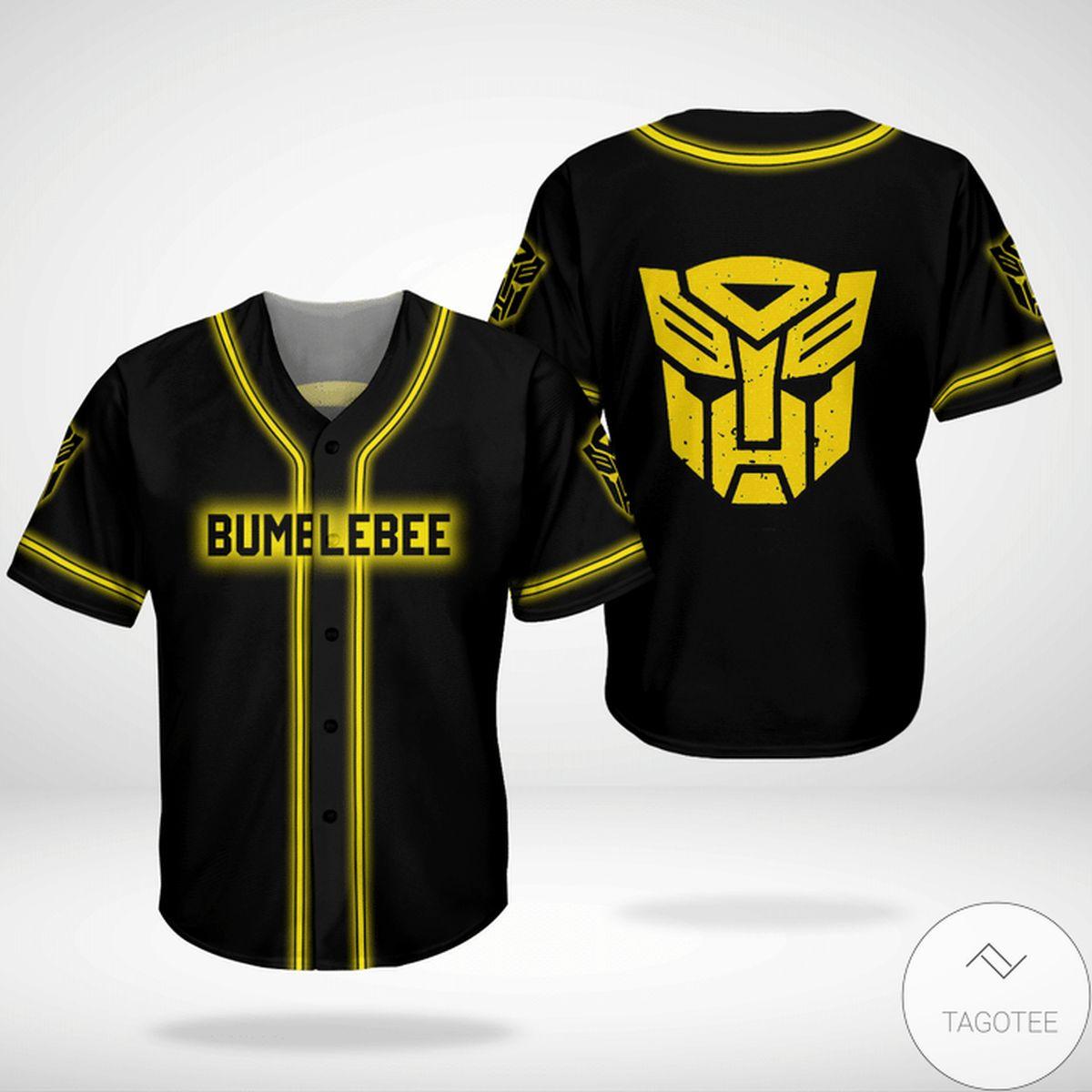 Bumblebee Transformer Jersey Baseball Shirt