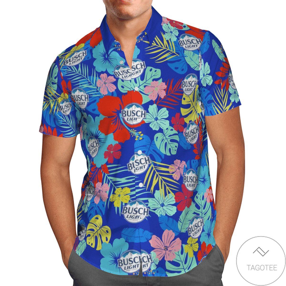 Busch Light Flower Hawaiian Shirt