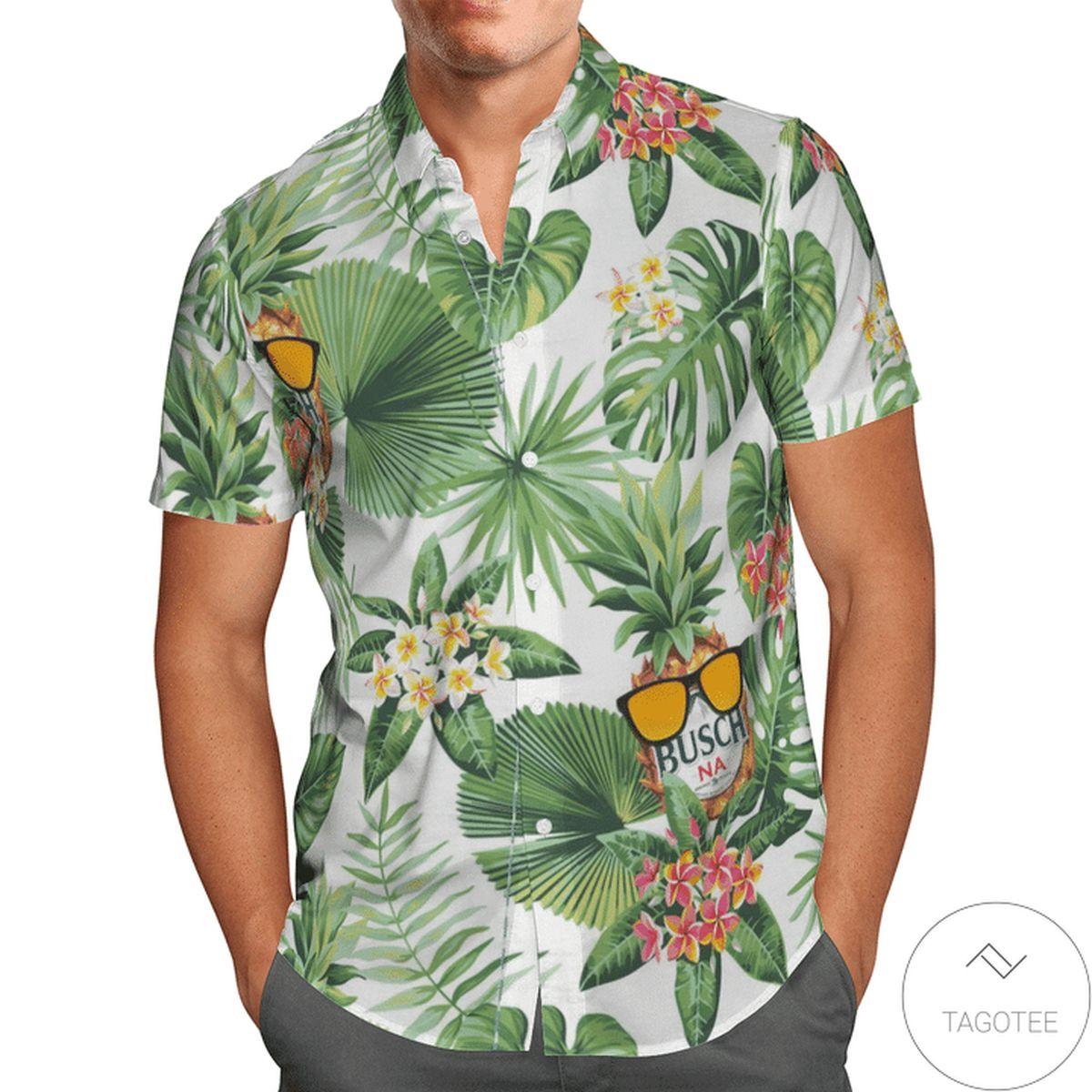 Busch Na Tropical Hawaiian Shirt