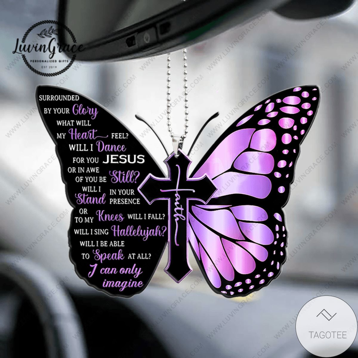 Butterfly Surrounded By The Glory Car Hanging Ornament