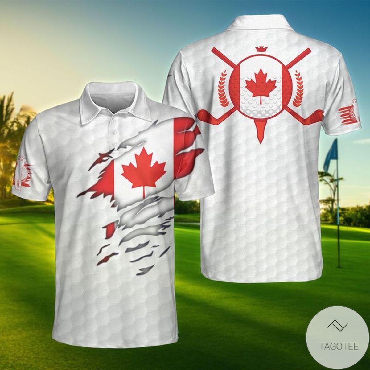 Canada Flag Golfer Polo Shirt