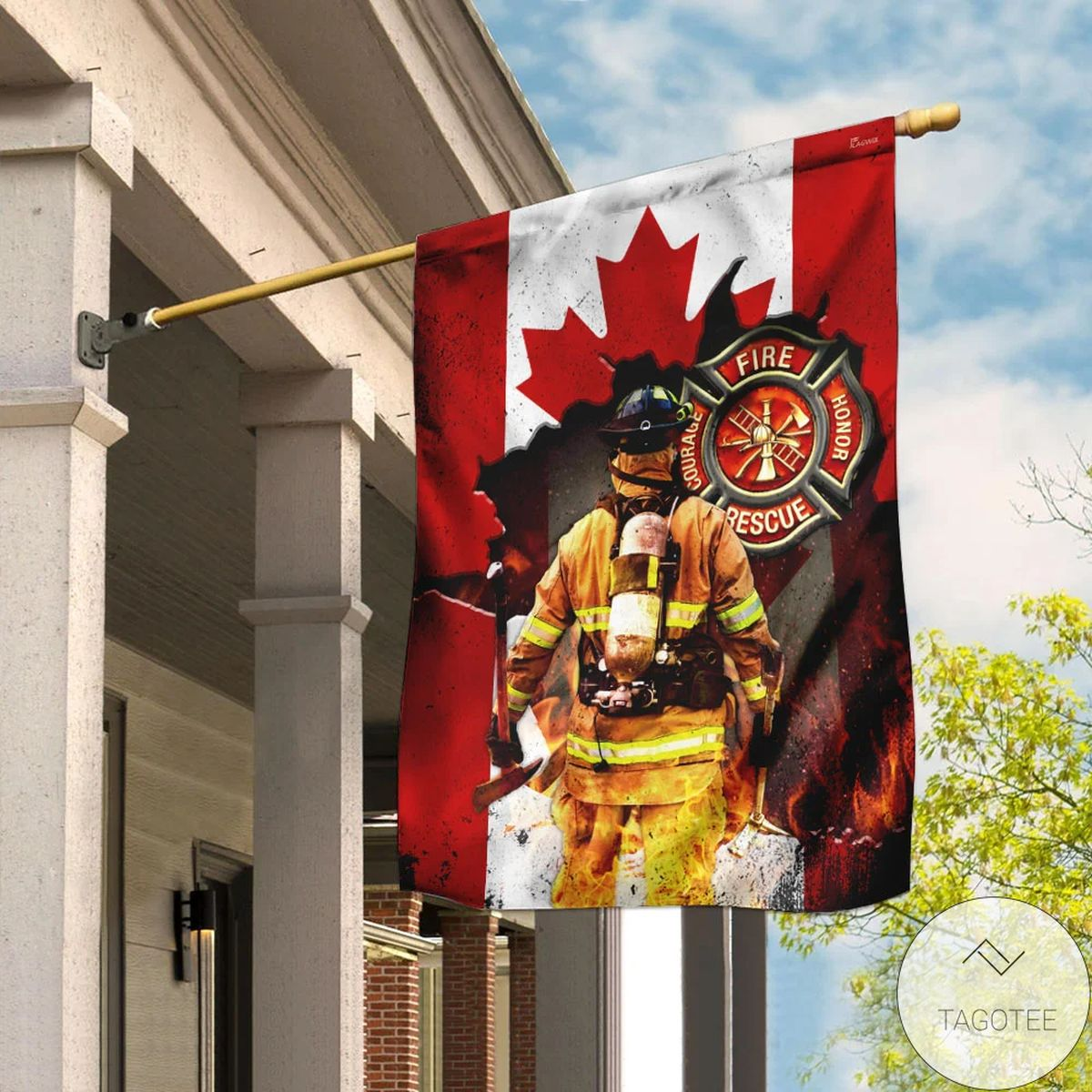 Beautiful Canadian Firefighter Flag
