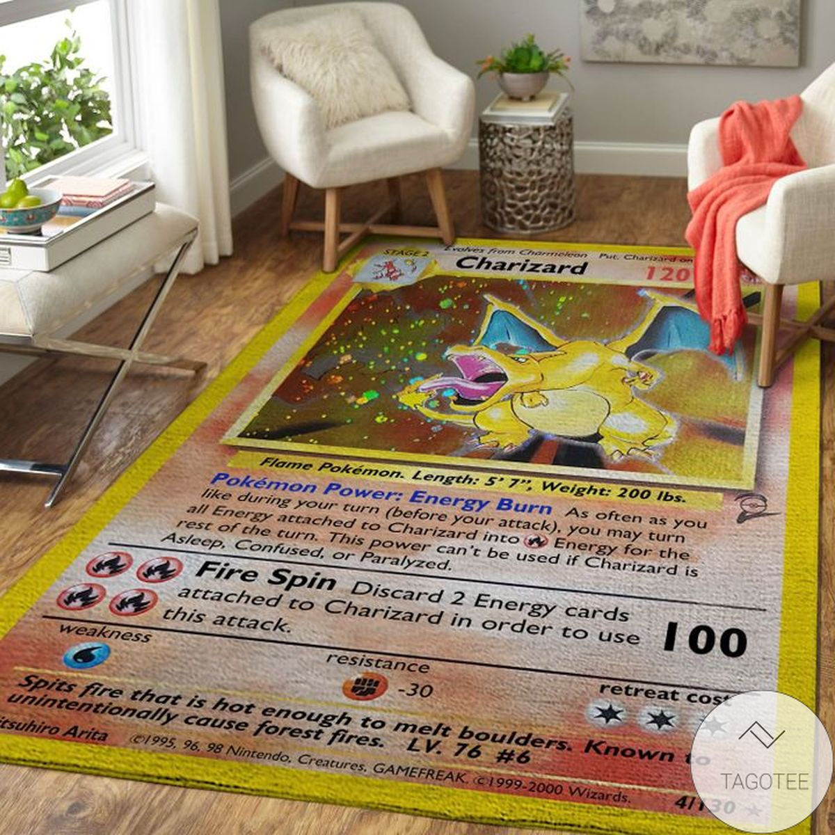 Great Quality Charizard Pokemon Rug