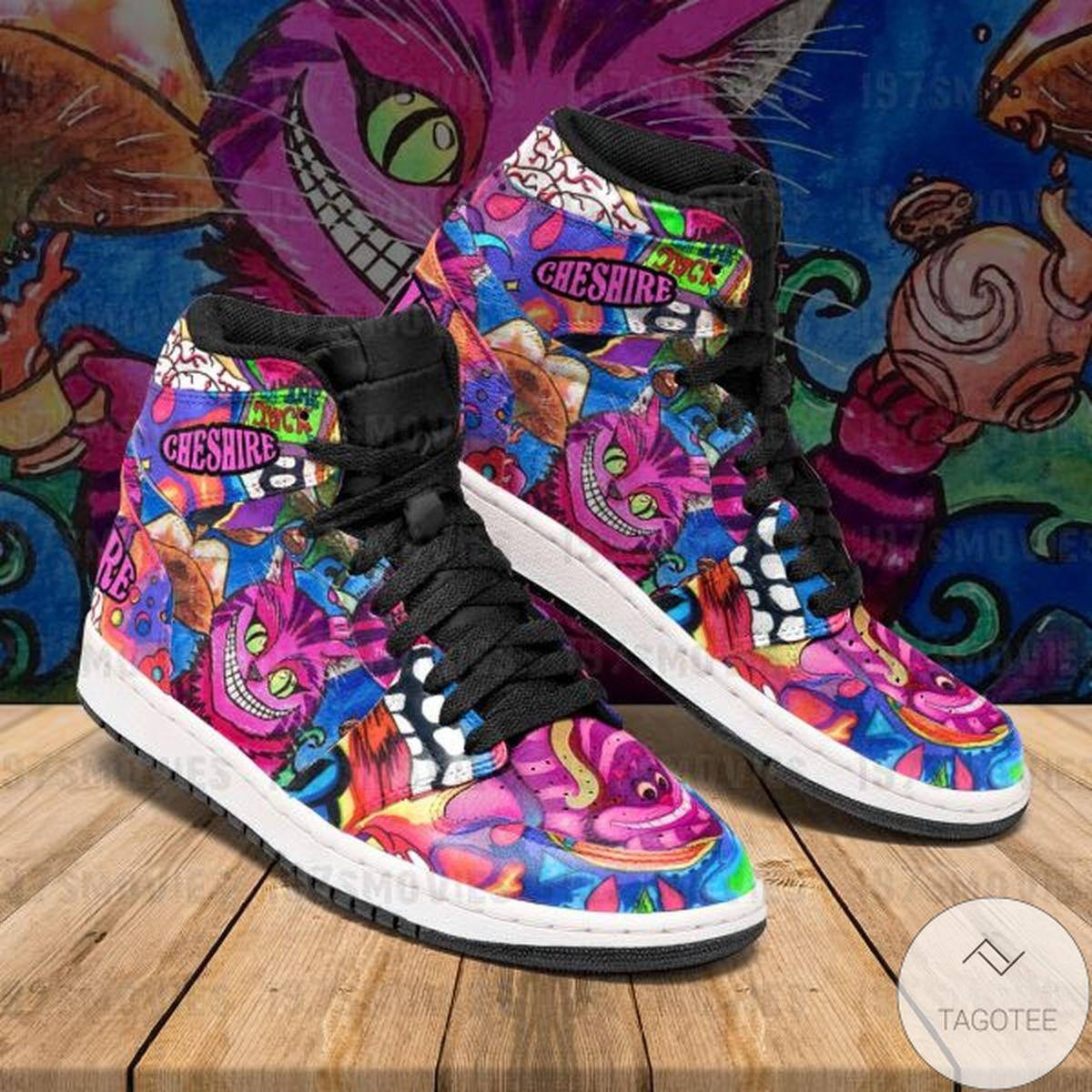 Hot Deal Cheshire Cat Alice's Adventures in Wonderland Sneaker Air Jordan High Top Shoes