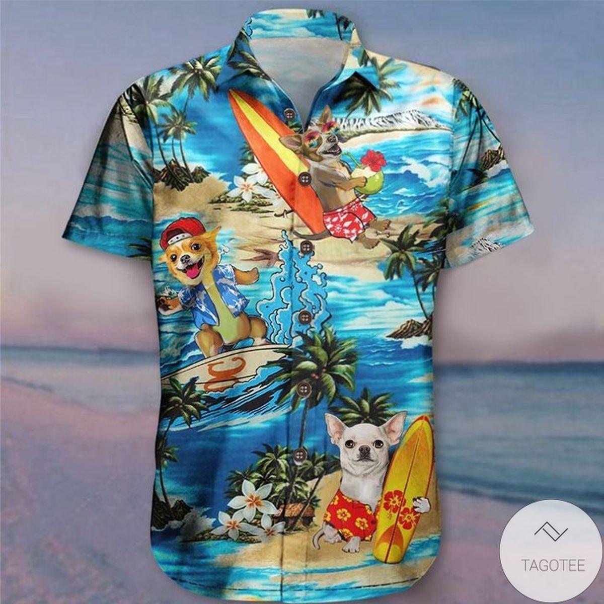 Sale Off Chihuahua Beach Cute Summer Aloha Hawaiian Shirt