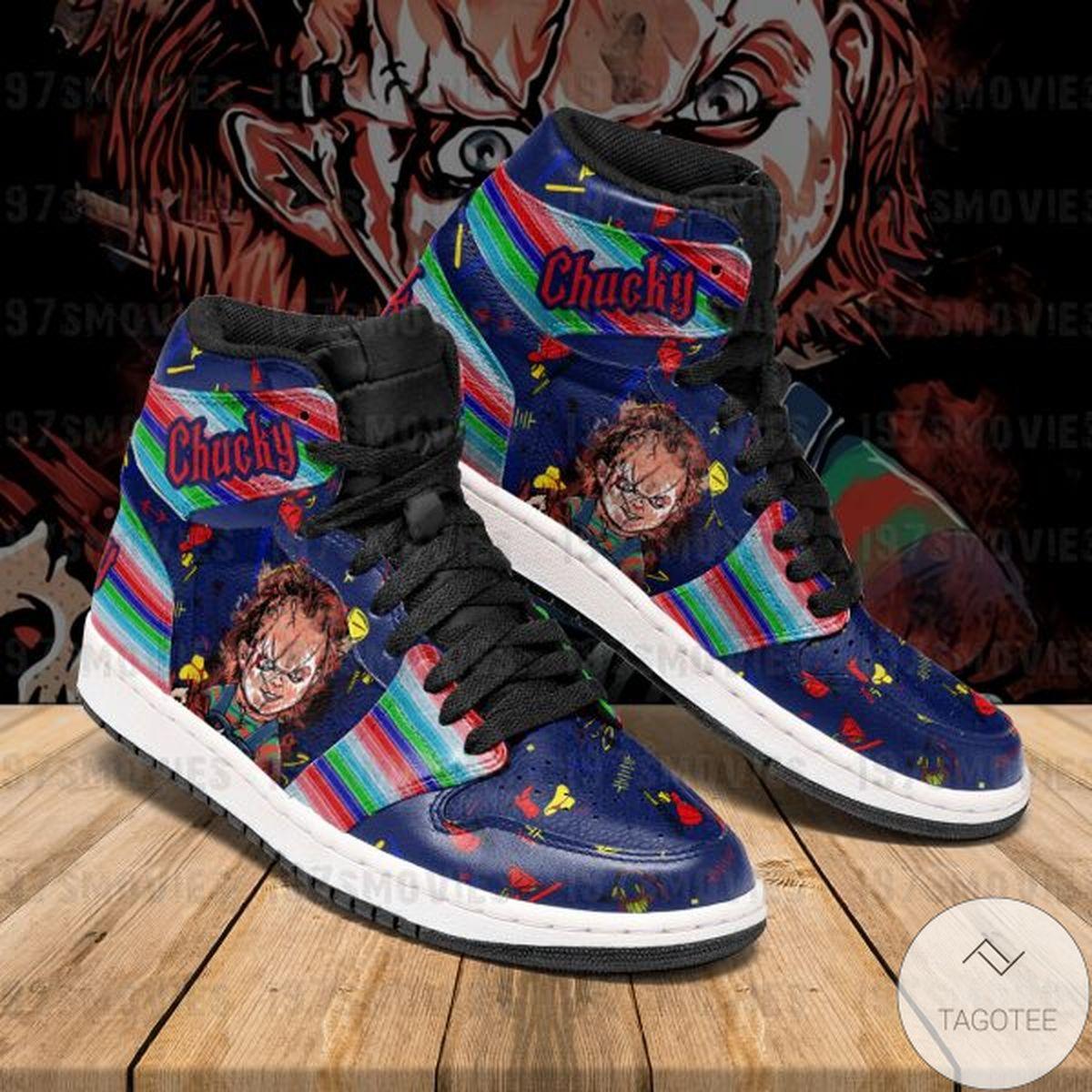 Chucky Child's Play Sneaker Air Jordan High Top Shoes