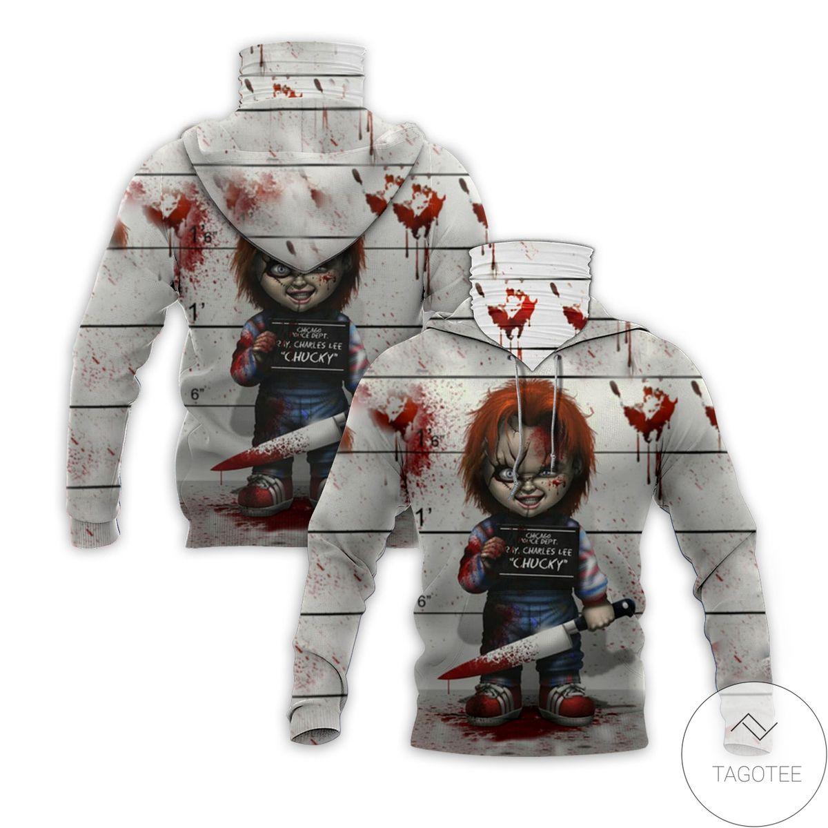 Clothing Chucky Horror Movie Halloween Mask Hoodie