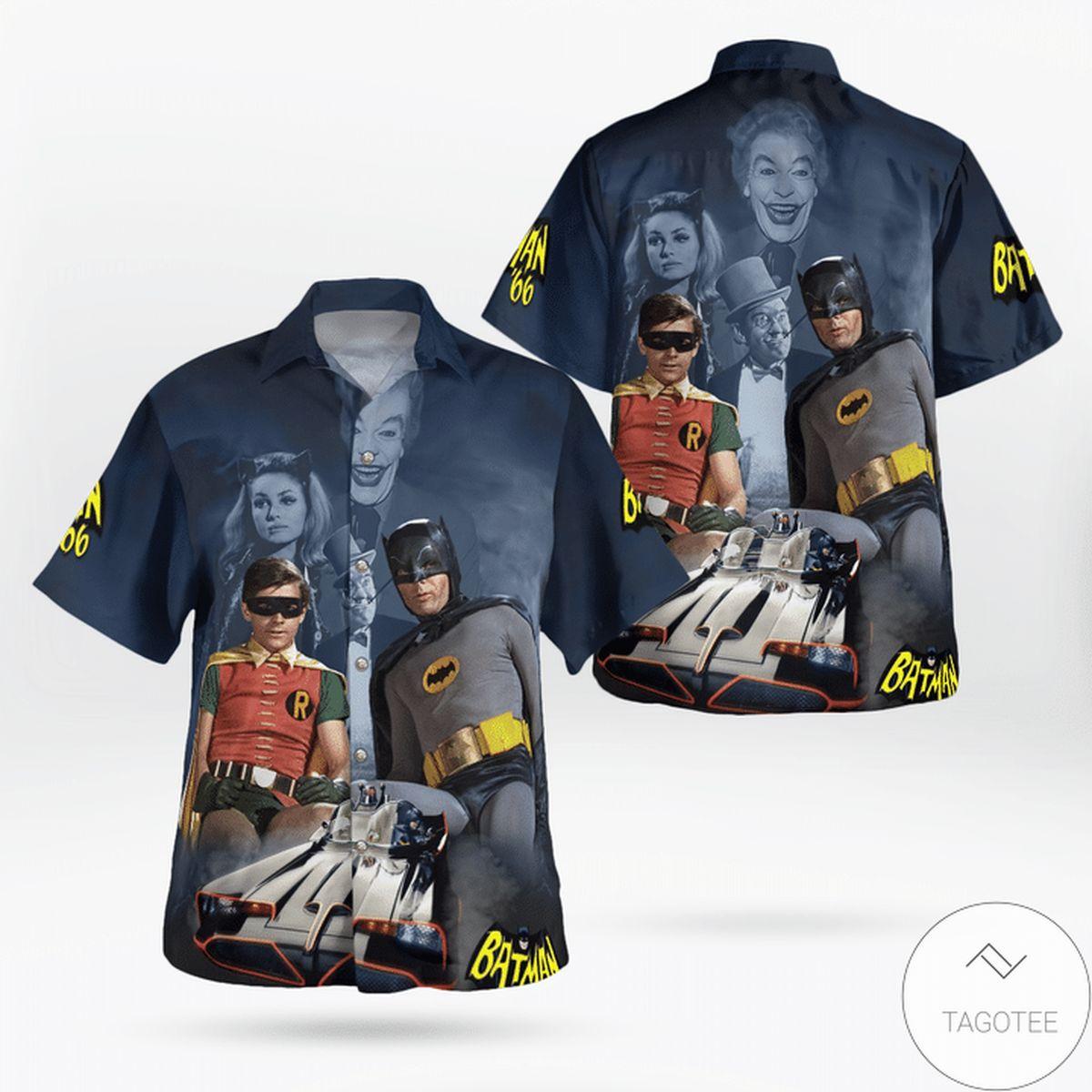 Classic Batman 1960s Hawaiian Shirt
