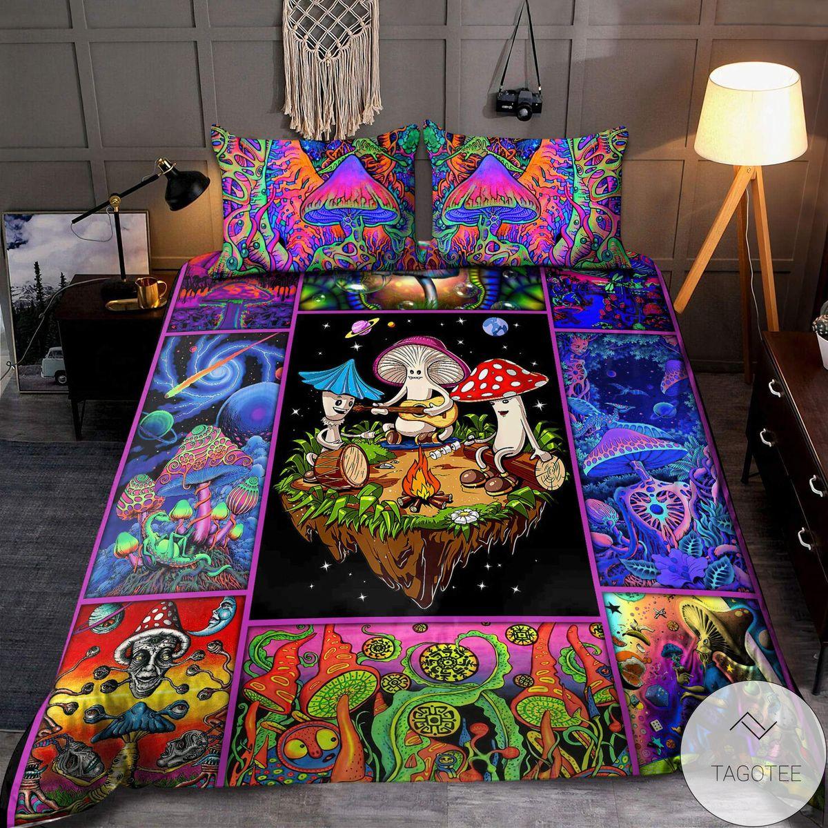 Colorful Mushroom Hippie Bedding Setx