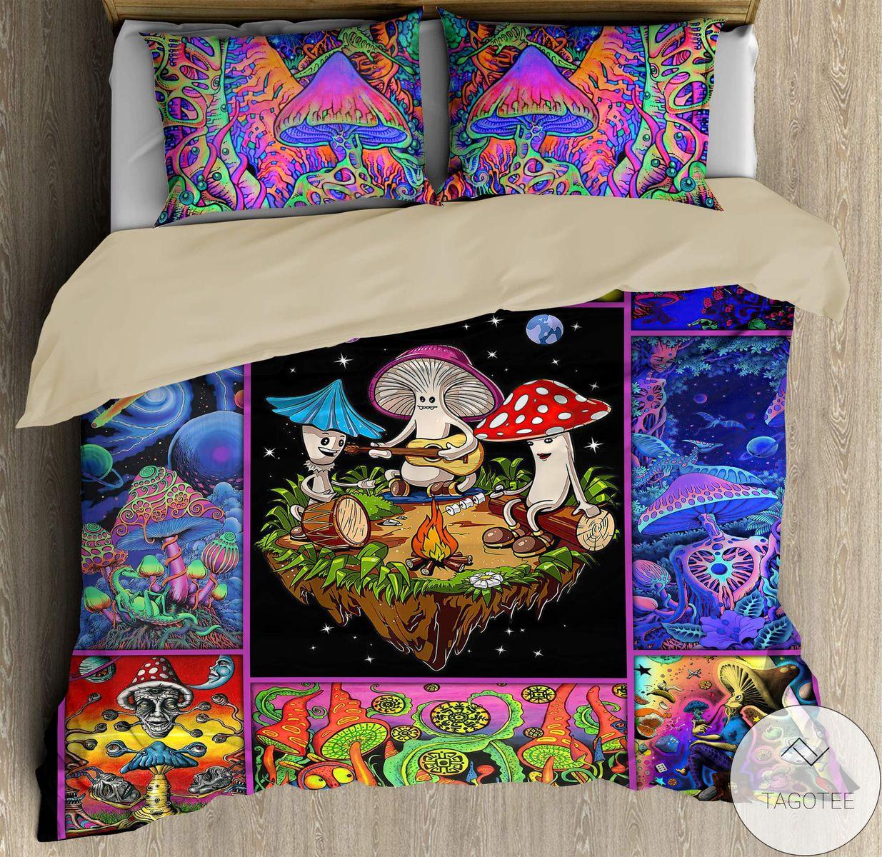 Colorful Mushroom Hippie Bedding Setz