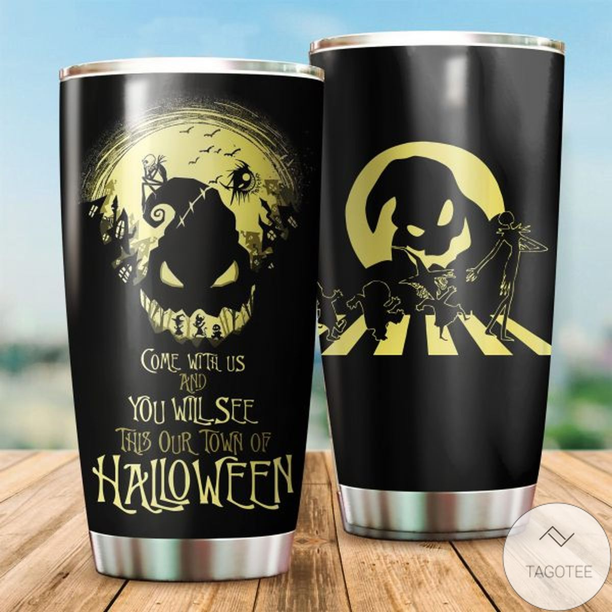 All Over Print Come With Us And You Will See This Our Town Of Halloween Tumbler